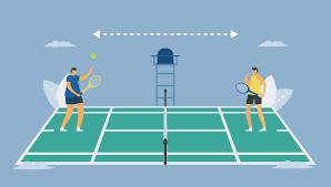 Social distancing in tennis sport. - Download Free Vectors, Clipart  Graphics & Vector Art